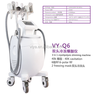 VY-Q6 Cool tech fat freezing slimming cavi lipo radio frequency machine