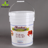 20 liter Plastic Round Paint Pail, 5Gallon plastic bucket for food storage container