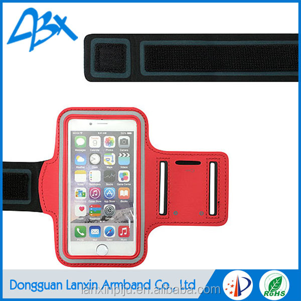 2016 new design running sport stretch armband, water resistant bag for smart phone