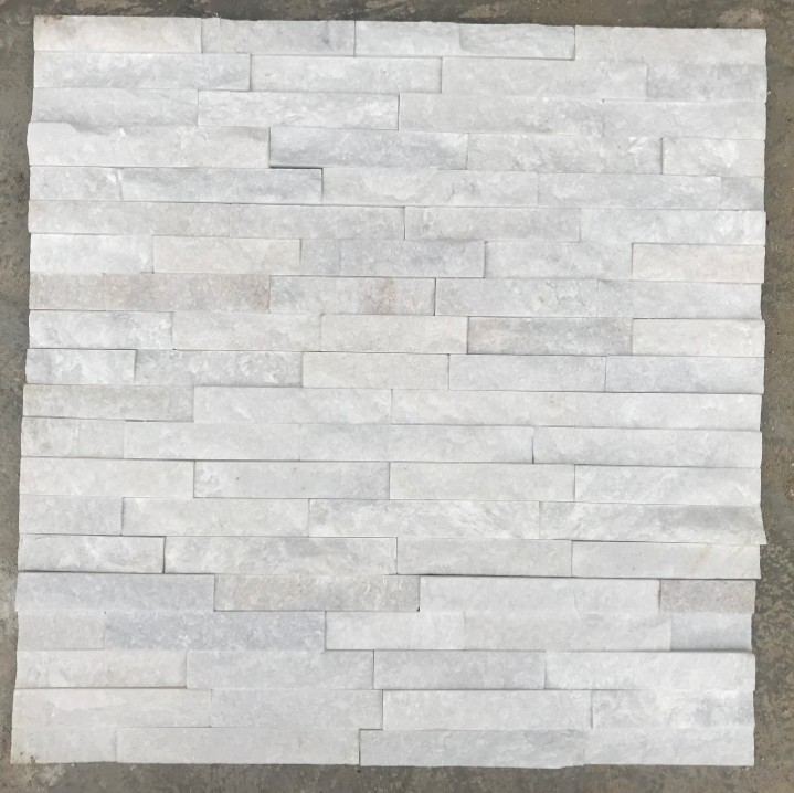 White Marble Stacked Stone Tiles Wall/Interior Stone Wall Cladding/Ledge Stone Panels