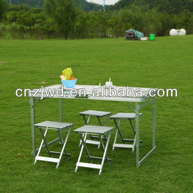 Buy cheap china folding aluminum picnic tables products find china outdoor folding aluminum picnic table set watchthetrailerfo