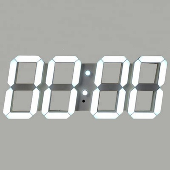 Jumbo Decor Battery Remote Acrylic Material Digital Type Number White Led Wall Clock