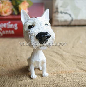 Customized miniature polyresin animal bobble head doll