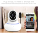 Anspo 360 Degree Wireless Camera Mobile Real-time Video Viewing 433 Alarm System WiFi IP Camera