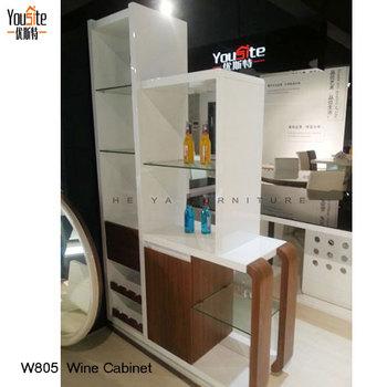 White Paint Wood Veneer Wine Display Cabinet Furniture Buy Wine