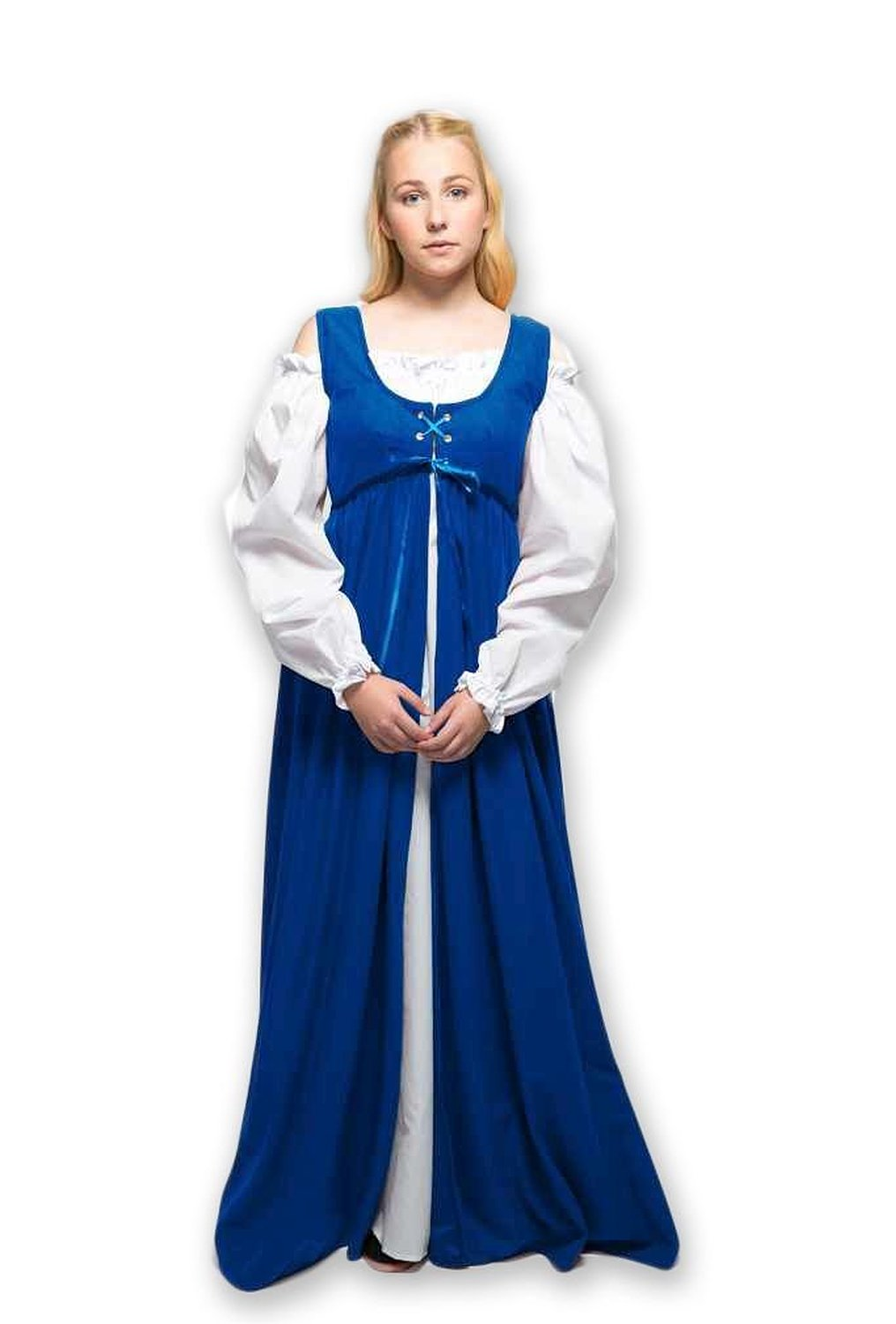 8b7ea7745a Get Quotations · 2 Piece Renaissance Medieval Gown with White Chemise