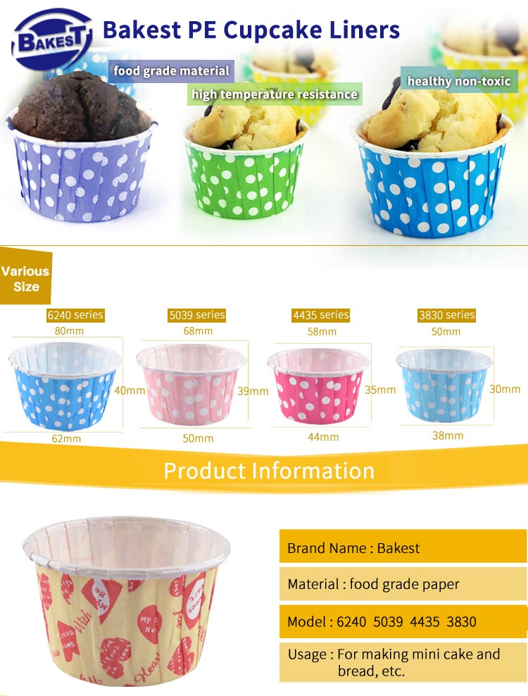 BAKEST hot sale popular muffin cupcake liners lovely baking paper cups