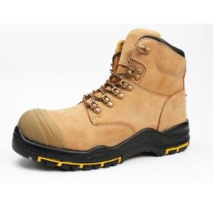 ee5e0a9e55f 2018 Anti-slip chemical resistant yellow leather safety work boots