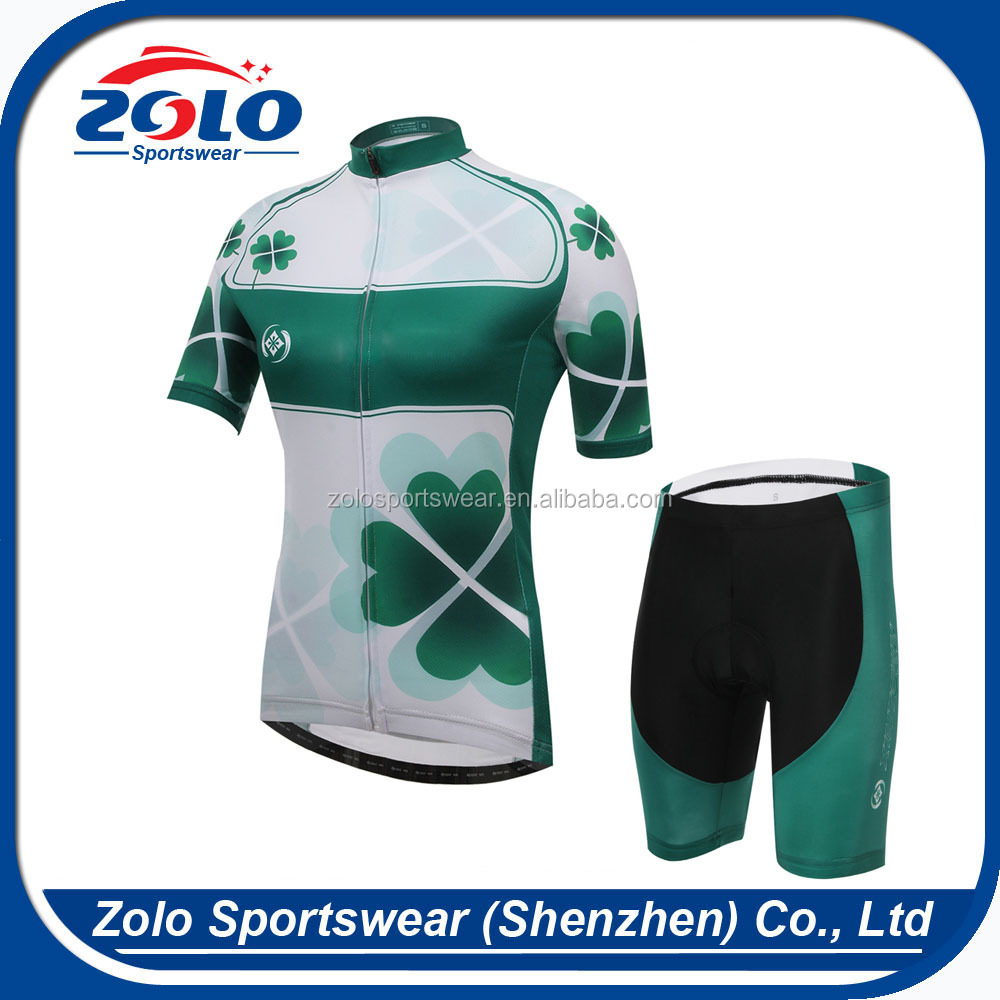 Custom Made 2015 New Design Women's Breathable Sublimation Printing Cycling Wear Shorts Sportswear