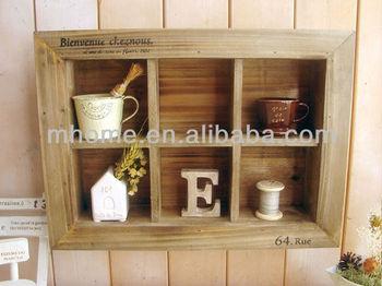 Armadio A Muro Shabby Chic : Più shabby chic mensola a muro in legno con 6 griglie buy mensola