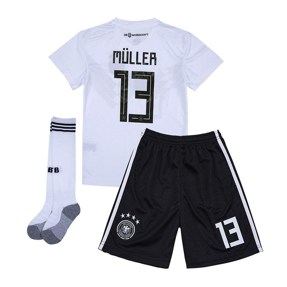 25dd30ebd1e Get Quotations · Cyllr Muller  13 Germany 2018 World Cup Home Kids Soccer  Jersey Matching Shorts
