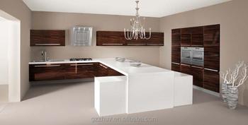 Acrylic Kitchen Cabinet Door Round Corner Embedded