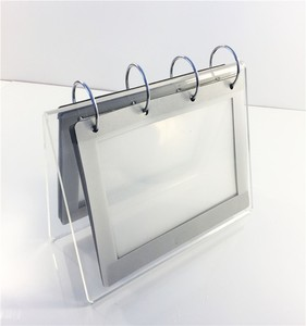 Custom plexiglass product easel transparent acrylic plastic display stand