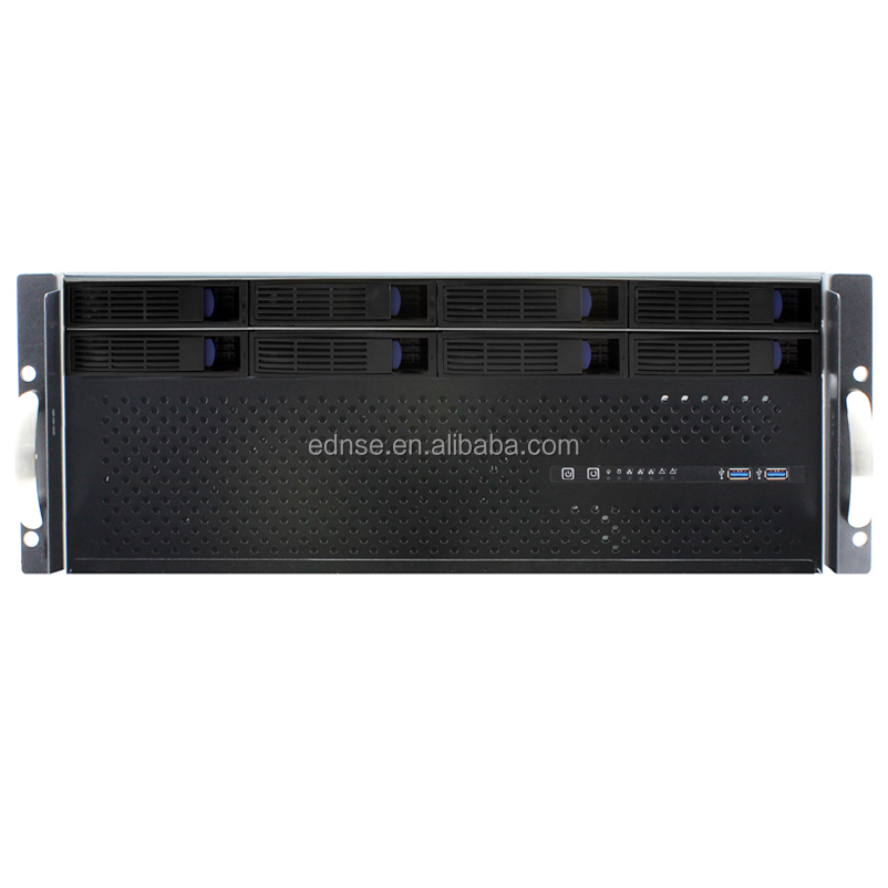 ED408H40-D Short Depth 400mm 8 Bay Hot Swap 4U Rack Server Case