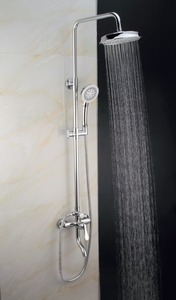 faucet corner shower with shower head