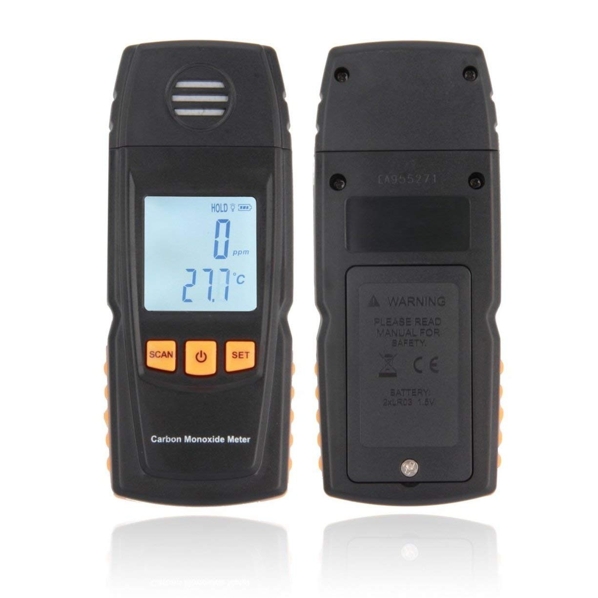 Detectoy Hand-held Smart Sensor Portable CO Gas Detector LCD Digital Carbon Monoxide Handheld Meter CO Gas Tester Detector Meter