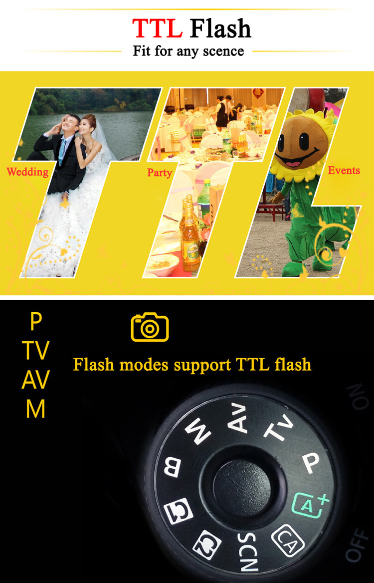 NiceFoto 600Ws TTL Wireless Studio Flash -- A Big Speedlite for outdoor shooting big sale products support TTL HSS1/8000s