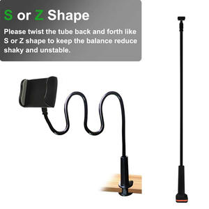 Height Angle Adjustable gooseneck tablet mount long arm lazy phone holder