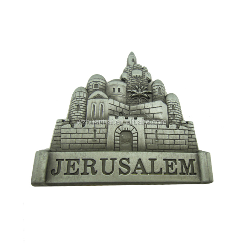 custom Pakistan jerusalem antique silver plating fridge magnet 3D