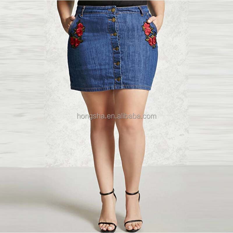 Plus Size Denim Skirt, Plus Size Denim Skirt Suppliers and Manufacturers at  Alibaba.com