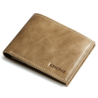 DIDE Genuine Leather Card Holder Mens Slim Wallet Money Clip Wallet For Men