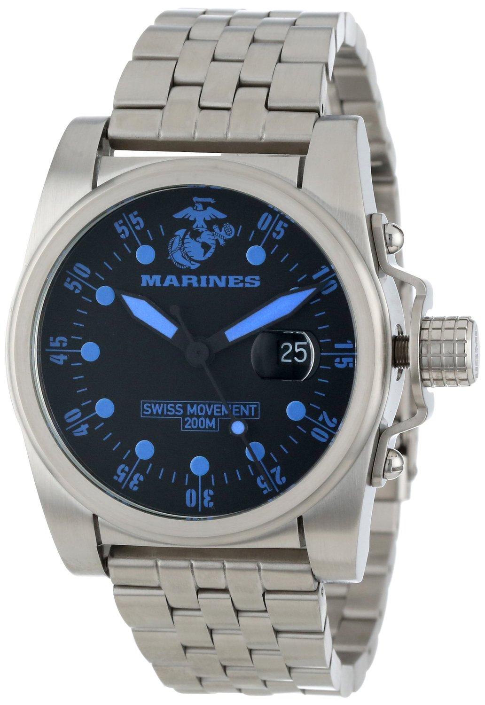 Wrist Armor Men's WA111 C1 Stainless Steel Swiss Analog Display Swiss Quartz Watch with Stainless Steel Bracelet