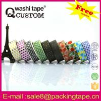 Assorted designs cute adhesive tape in any colors