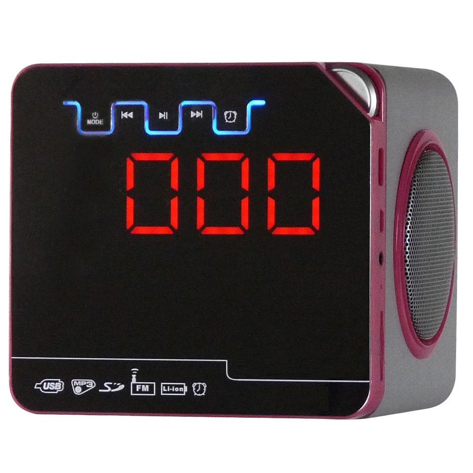 Portable Mp3 Alarm Clock Radio With Sd Usb Card Slot For Desktop ...