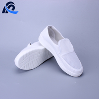 Antistatic Canvas Mesh Type Antislip PU Sole ESD Cleanroom Shoe For Working