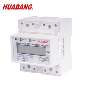 single phase din rail mounted import and export energy consumption bi-directional energy meter