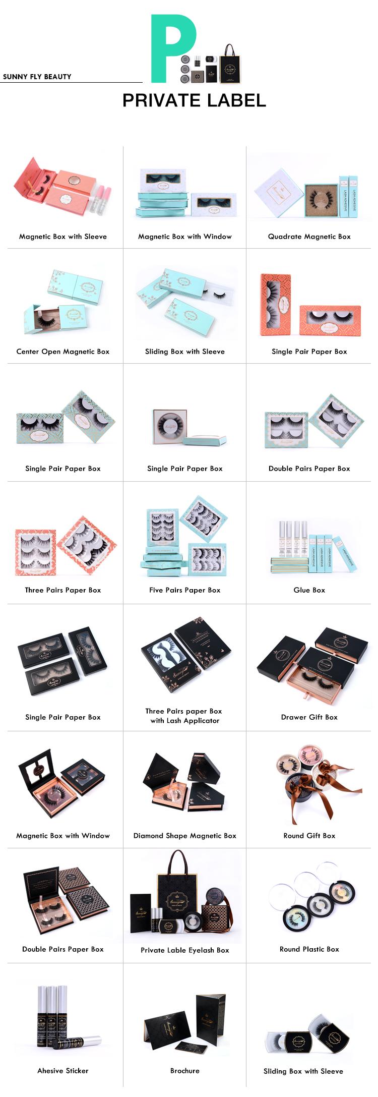 निर्माता नि: शुल्क नमूने थोक झूठी पट्टी कस्टम पैकेजिंग मिंक eyelashes