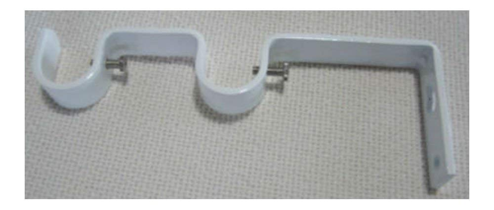 "Heavy Duty Steel Double Drapery Curtain Rod Bracket,for 3/4"" & 5/8"" rod (glossy white)"
