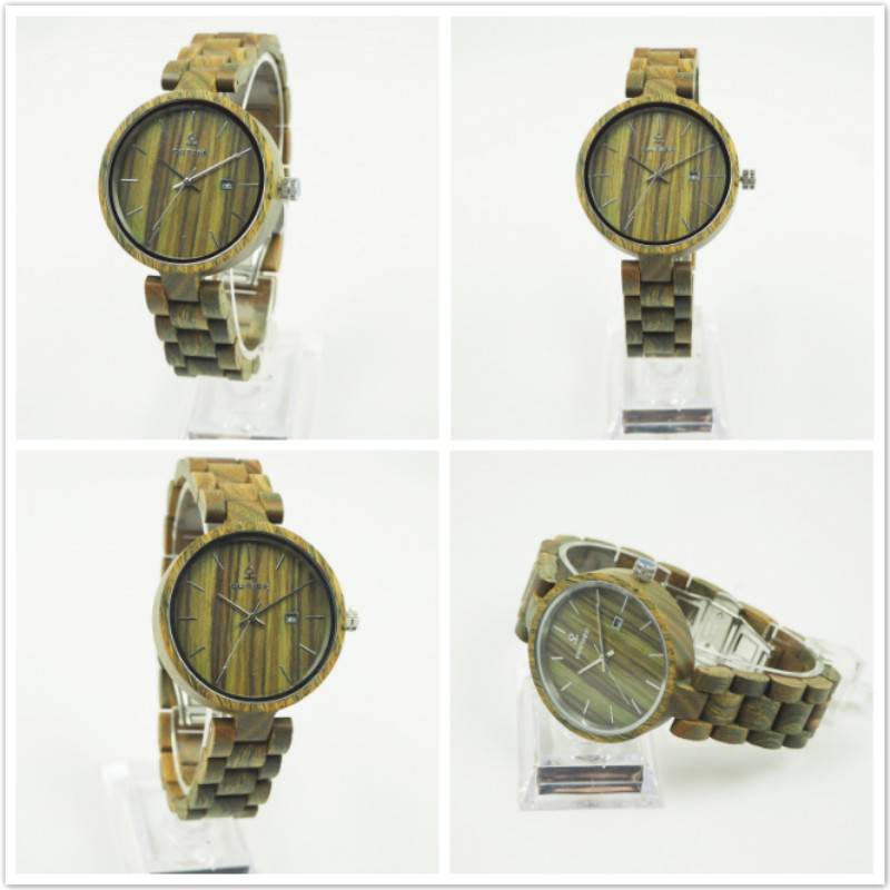Wholesale hot cheap eco-friendly lady watch Japan movt watch sr626sw price natural vera wooden wrsit watches