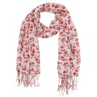 Top Quality Ladies Long Cotton Floral Hijab Scarf With Tassel Winter Women Fashionable Crinkle Cheap Head Scarves