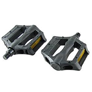 Dimart Pair 13.8mm Axle Hard Plastic MTB BMX Bike Bicycle Platform Pedal Black