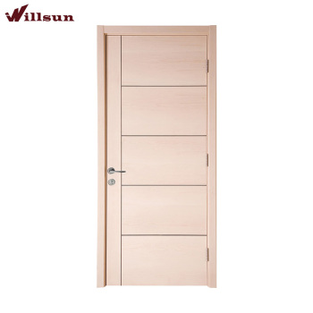 The North American Style Simple 5 Panel Plywood Flush Door Design For Hotel  Project