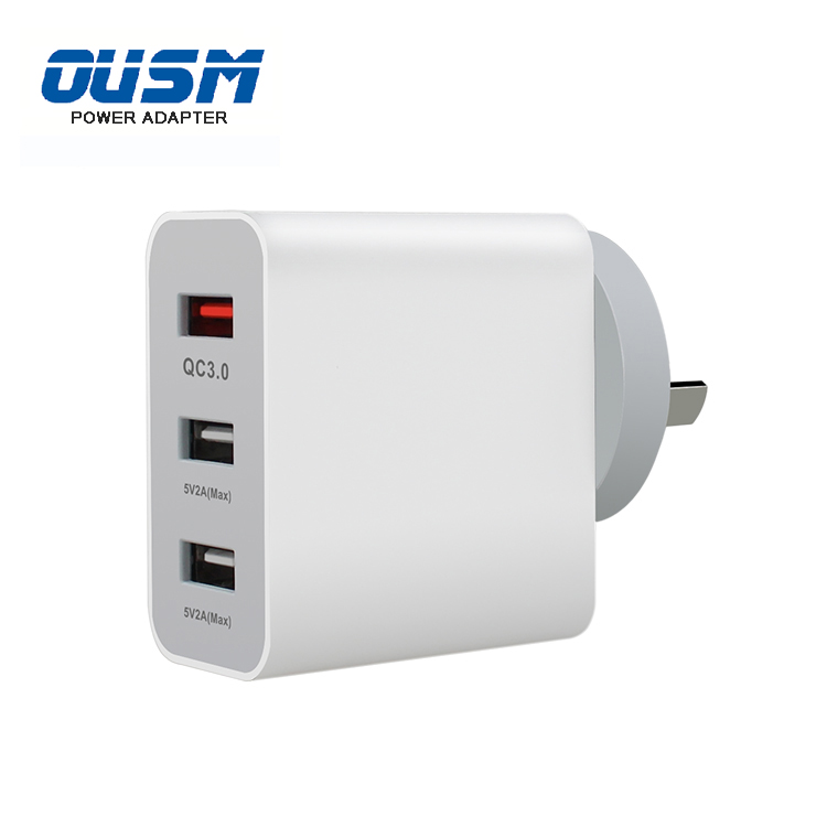 2 USB & QC3.0 port 25w Type-C PD charger EU/UK/AU/US Standard Mobile Phone Travel Charger