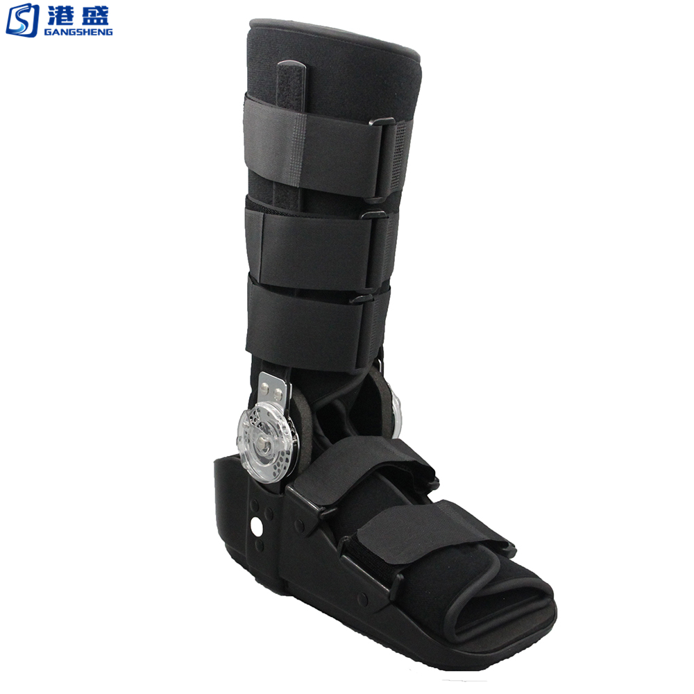 Hinged adjustable medical orthopedic walker boots walker brace after surgery