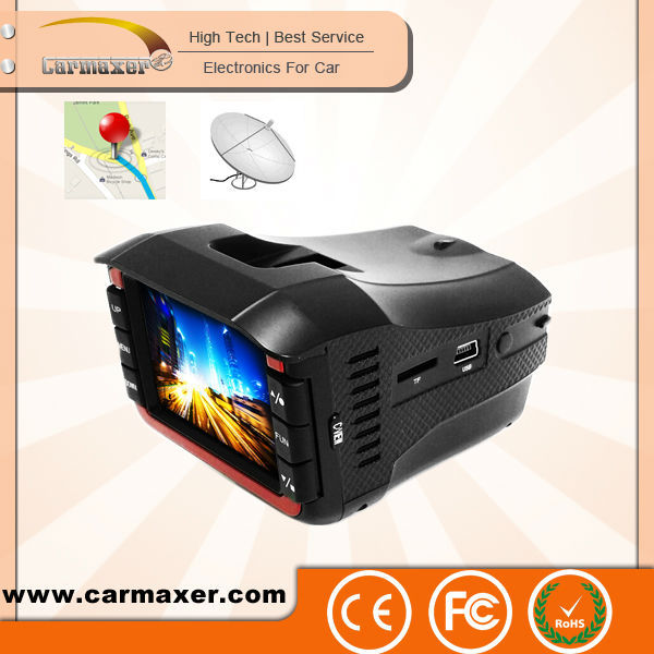 2014 newest 3 in 1 detect gps tracking device with radar detector for Russia