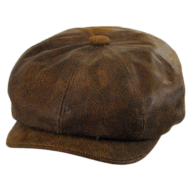 Get Quotations · Jaxon Hats Leather newsboy Cap d4c1811b8770
