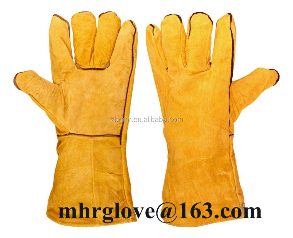 Brand MHR [Gold Supplier] HOT ! Cowhide Leather Gloves for falcon feed in UAE