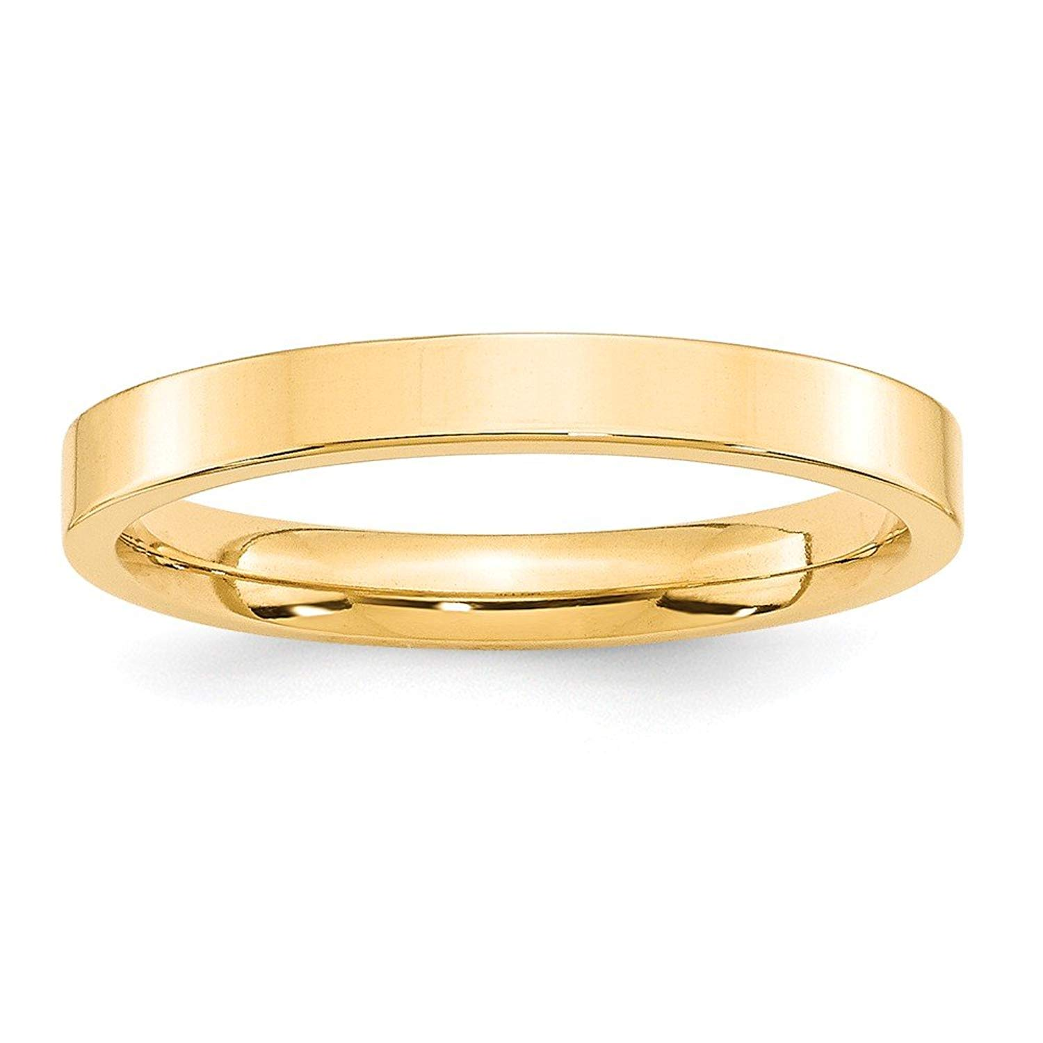 Perfect Jewelry Gift 14KY 3mm Standard Flat Comfort Fit Band Size 9