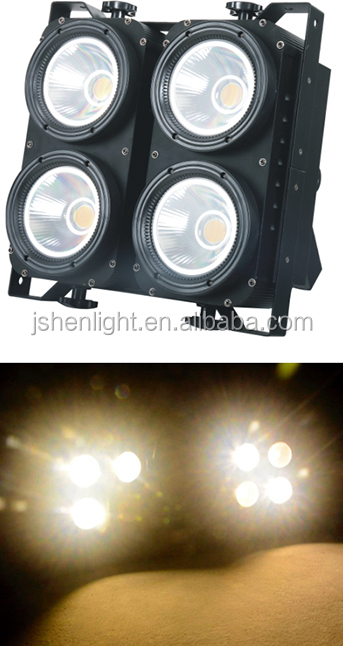 4eyes COB led blinder light 4x100W warm white Stage Audience Light theater light