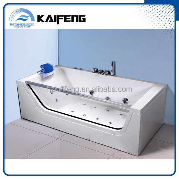 Tempered Glass Side Acrylic Bathtub, Tempered Glass Side Acrylic ...