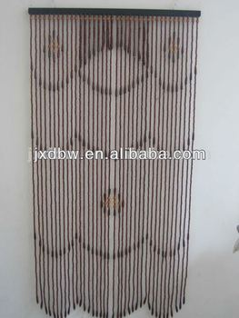 Moving Design Wooden Beaded Door Curtain - Buy Wood Bead Curtain ...