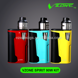 2018 Most popular vzone Spirit 90w kamry x6 1300mah battery e-cig epipe k1000 joecig ecig kit car