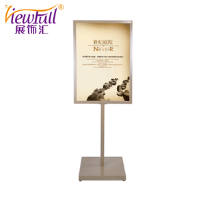 Easel Tripod Advertising Poster Stand With Champagne Gold