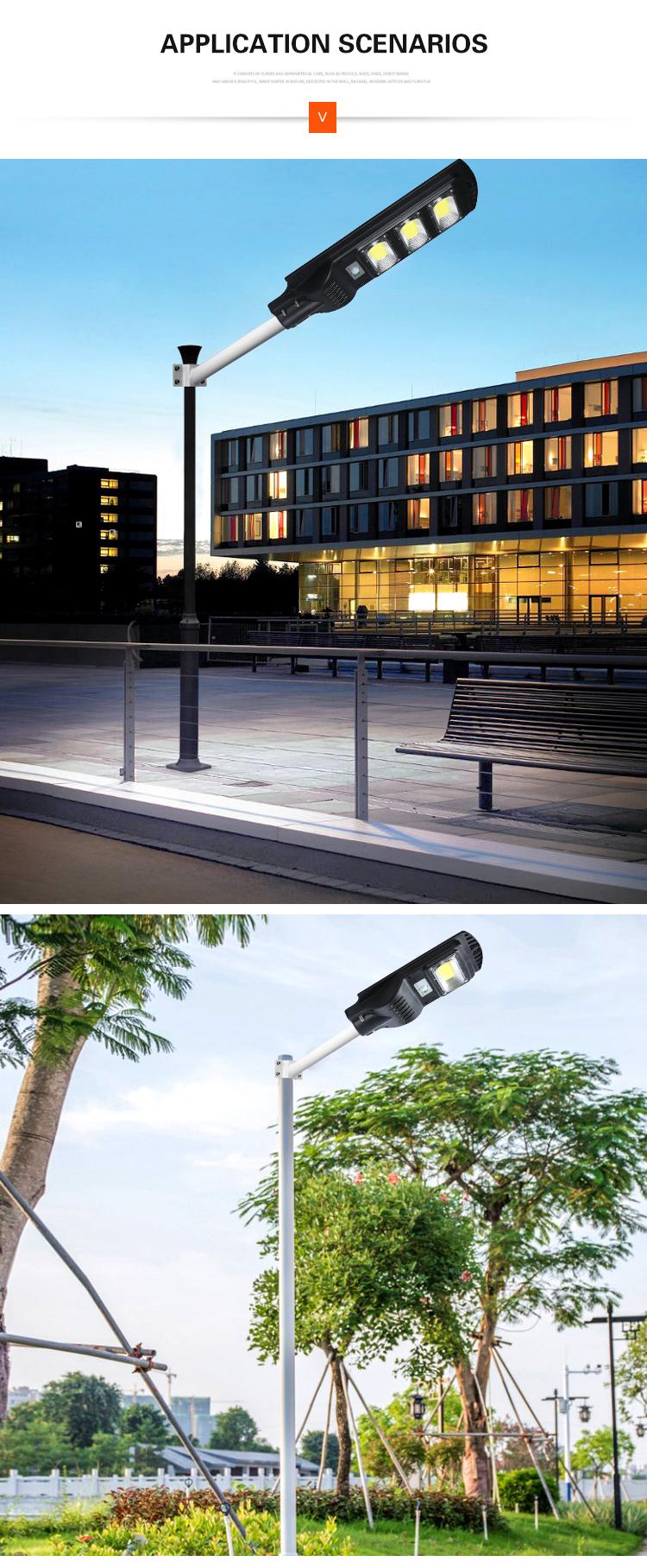 Wholesale ip65 waterproof outdoor cob abs 20w 40w 60w all in one solar led street light