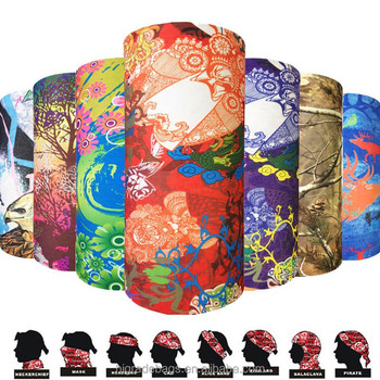 wholesale Seamless Tube Multifunction UV tube bandana skull