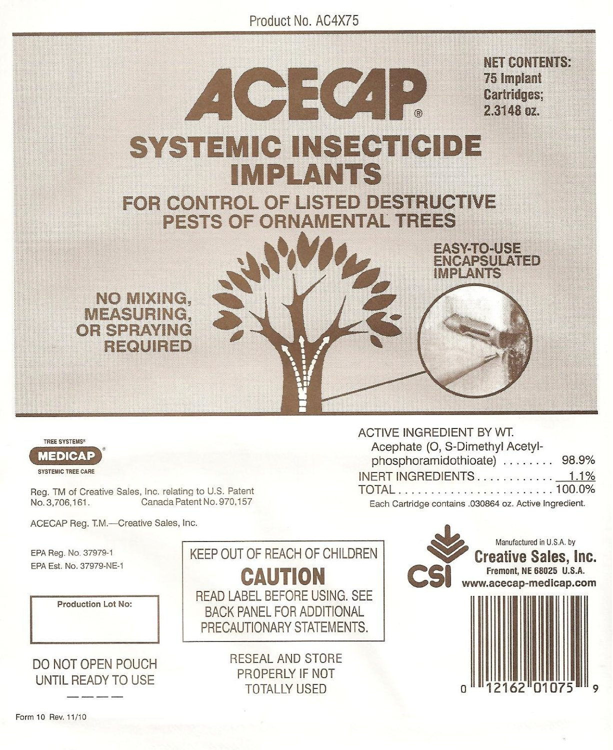 Medicap 25-Pack FE Systemic Iron Tree Implants for Control of Iron Chlorosis,